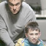Ben Miles as The Man and Adam Arnold as The Child - Photo: Keith Pattison