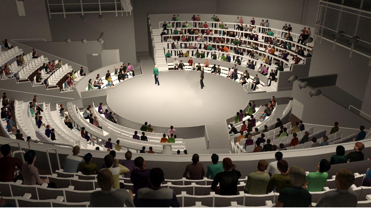 Impression of the reconfigured Olivier Theatre