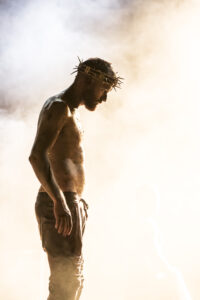 Declan Bennett as Jesus - Photo Johan Persson