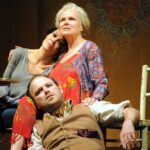 Helen McCrory as Libby (left), Julie Walters as Judy (centre), Rory Kinnear as Nick (right) - Photo: Catherine Ashmore
