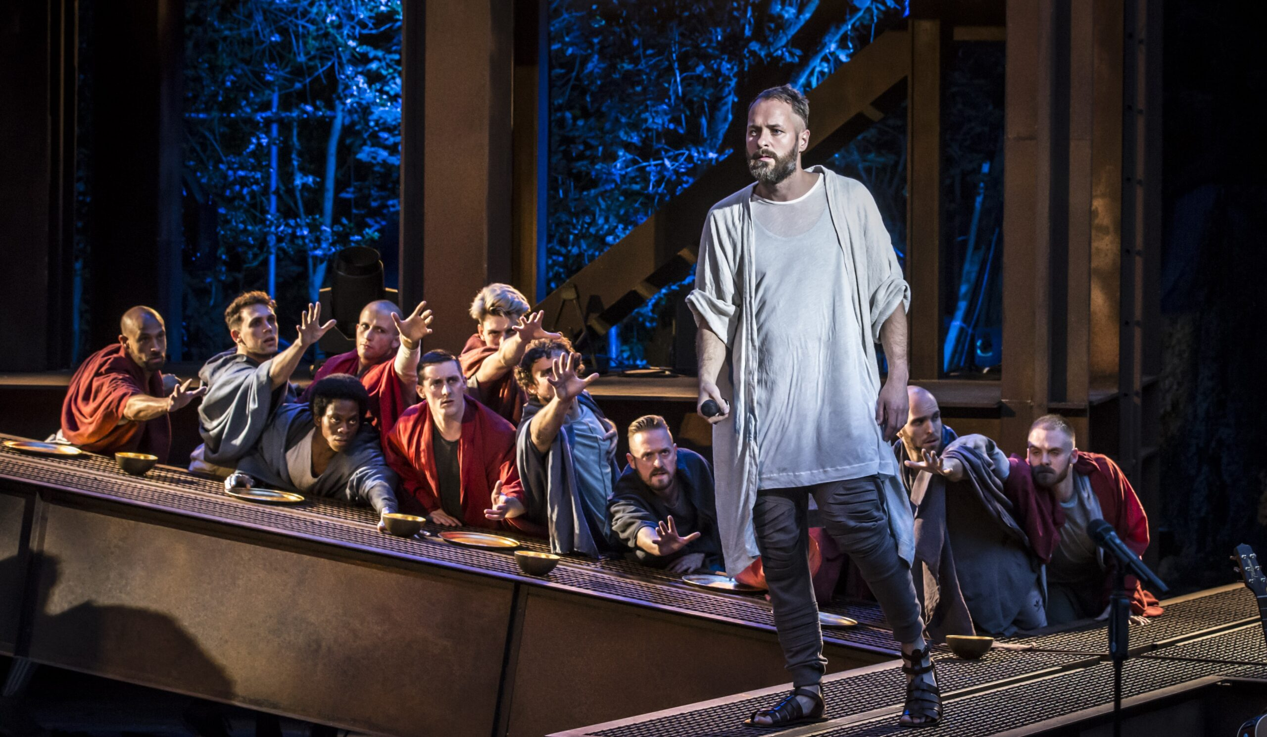 Jesus (Declan Bennett) at the Last Supper - Photo: Johan Persson