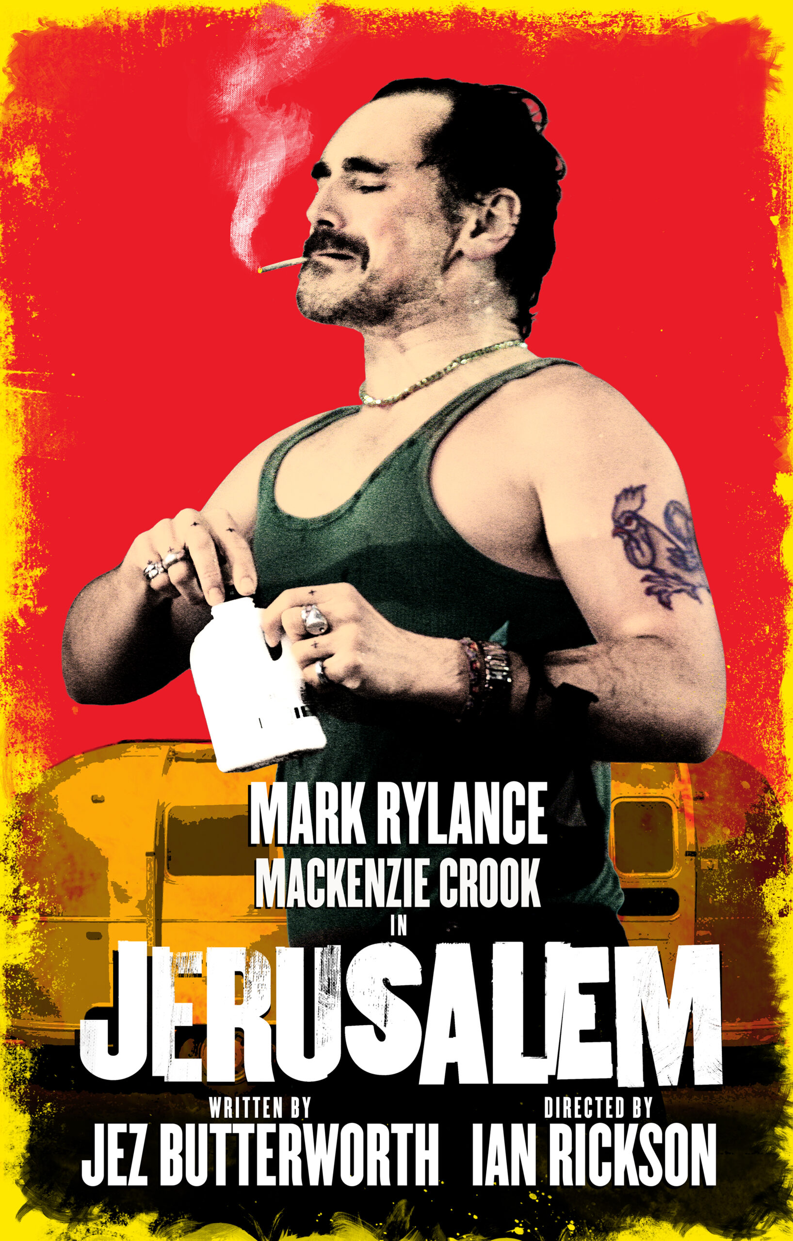 Read more about the article NEWS: Jerusalem to return with Mark Rylance and Mackenzie Crook for 16 weeks only!