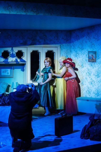 Kulvinder Ghir as Frank, Laura Rogers as Mary, Carolina Main as Catherine and Lucy Black as Teresa  (Photo: Helen Murray)